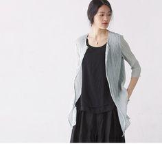 Jacquard Sheer cyan cardigan shirts tops jackets BonLife