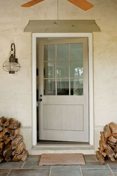 Details: Craftsman Doorway - Rural Cottage with Character - Southern Living Cottage Front Doors, Home Front Door, Cottage Porch, Cozy Cottage, Front Entry, Front Porch, American Gothic House, Door Design, House Design