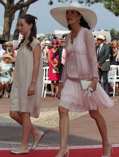 Princess Caroline of Hanover and her daughter Princess Alexandra