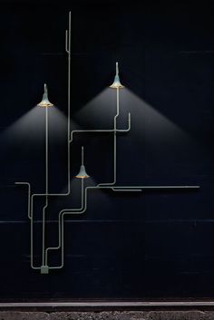 Design by Dutch team Nathan Wierink & Tineke Beunders [Studio Ontwerpduo] Light Forest, evolving pendant  light system | MilK decoration