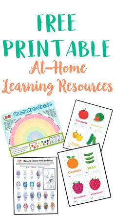 Grab these free at-home printable learning resources from Dole to encourage your kids' to live a healthy lifestyle and maintain a proper diet. Kids Learning Activities, Home Learning, Educational Activities, Learning Resources, Teaching Kids, Banana Sticker, Proper Diet, Kids Prints, Parenting Hacks