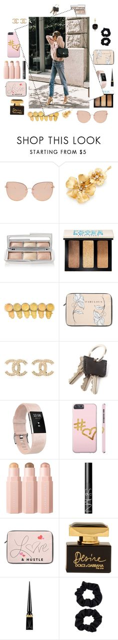 """Weird yet Wonderful"" by monique-joanne ❤ liked on Polyvore featuring Topshop, Jennifer Behr, Hourglass Cosmetics, Bobbi Brown Cosmetics, Chanel, Fitbit, NARS Cosmetics, Dolce&Gabbana, Christian Louboutin and Accessorize"