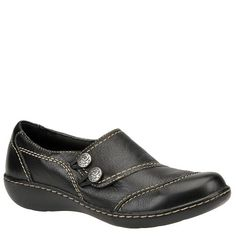 Clarks Shoes Women Wide Clarks Women s Ashland Alpine Slip-On Loafer  Leather Manmade sole Heel measures approximately Platform measures  approximately ... 553beb96b