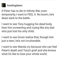 Part 1 of 3 I know he won't actually be dead cause they confirmed Spider-Man 2