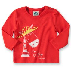 EAT ANTS BY SANETTA Baby Langarmshirt für Mädchen, Eat Ants BY SANETTA, rot - myToys.de