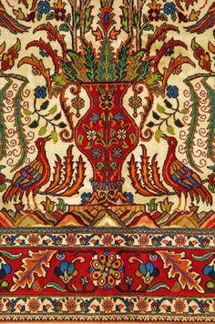 """Bakhtiari Persian Rug, Buy Handmade Bakhtiari Persian Rug 6' 11"""" x 10' 2"""", Authentic Persian Rug"""