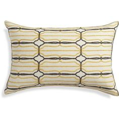 """Crate & Barrel Fae 24""""x16"""" Pillow with Feather-Down Insert (835 MXN) ❤ liked on Polyvore featuring home, home decor, throw pillows, plush throw pillows, grey accent pillows, ivory throw pillows, gray throw pillows and gray accent pillows"""
