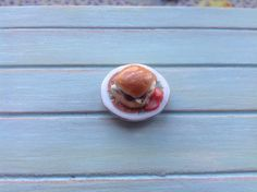 Miniature 1:12 Scale Food - Cheese and pickle sandwich by DinkyDinerMinis