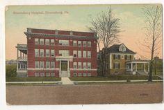Bloomsburg Hospital, BLOOMSBURG PA Vintage 1915 Pennsylvania Postcard