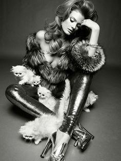 Fur on fur
