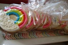 Pretty rainbow cookie favors