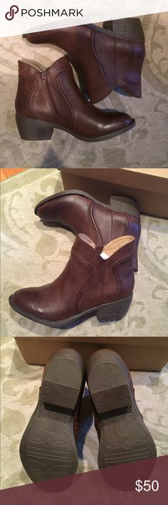 BC Footwear brown western style ankle booties Brown western style ankle boots by bc footwear in size 6. Purchased from American eagle. Still in the original box. BC Footwear Shoes Ankle Boots & Booties