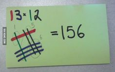 My friend told me this is how Japanese students learn multiplication.