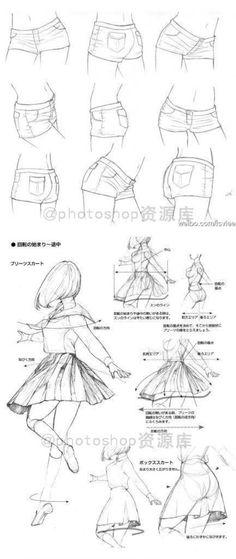 裤子和裙子的画法,漫画,手绘(话说这张窝有没有发过啊)