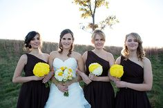 the bridesmaids + bride (photo credit: 47 moments photography)