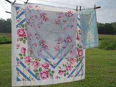 Wayside Treasures: Tablecloths and roses