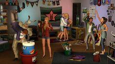 Sims 3 University - Les fêtes étudiantes #sims #party #ea