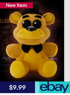 FNAF Possessed Fredbear Plush from Sanshee Five Nights At Freddy's, Fnaf Golden Freddy Plush, Fnaf Crafts, Freddy 's, Pokemon, Fnaf Sister Location, Freddy Fazbear, Plush Dolls, Geek Stuff