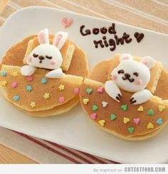 Cutestfood.com  so cute! Going to try & make these using marshmallow for the bunny & bear.