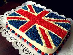 Union Jack Cake :)