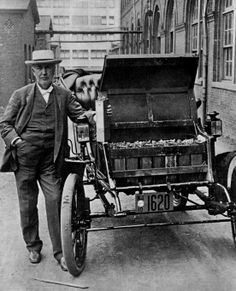 Thomas Edison and an electric car 100 years ago...1911...sometimes innovation repeats itself. Just think where we would be if we had been building electric cars since the early 1900s...wow...