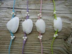 "These pretty pastel bracelets make me ready for spring! The ""Shamrock"" clam shell bracelet on Etsy, $6.00"