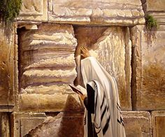 Art by Alex Levin, Praying By The Wall.