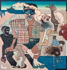 Eugenio Dittborn. Óleo sobre tela, 1975