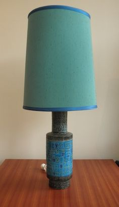 Bitossi lamp with original shade. http://www.redrider.com.au/portfolio/huge-bitossi-rimini-blue-lamp/