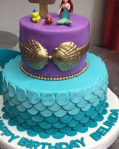 Little mermaid birthday cake - Design interests Ocean Birthday Cakes, Little Mermaid Birthday Cake, Little Mermaid Cakes, Birthday Cake Girls, Birthday Cake Disney, Trolls Cake Birthday, Jasmine Birthday Cake, Baby Mermaid, 5th Birthday