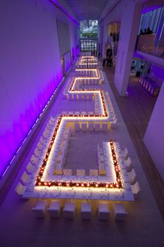 Wedding Reception Seating: Misconceptions About Long Banquet Seating. Read more: http://www.modwedding.com/2014/05/19/wedding-reception-seating-ideas/ #wedding #weddings #reception Featured: HMR Design ~ Colette Le Mason @}-,-;—