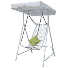 Outsunny Swing Sessel Rattan Garten-Terrasse im Swinging Sonnenliege Himmel mit Kissen