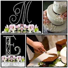 crystal wedding cake topper