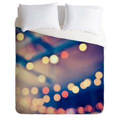 Shannon Clark Pretty Lights Duvet Cover   DENY Designs Home Accessories