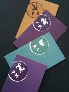 Chacun son animal. Chacun sa carte de visite. Création de papeterie pour l'agence LOUIS 21.