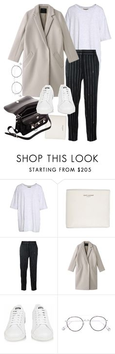 """""""Untitled #22310"""" by florencia95 ❤ liked on Polyvore featuring Yeezy by Kanye West, Yves Saint Laurent, DKNY, Proenza Schouler, adidas and Ahlem"""