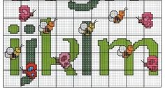 alfabeto ponto cruz mariposas