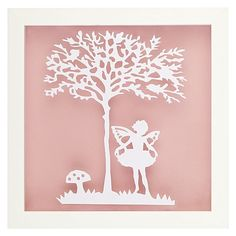 A magical subject and hand crafted design makes the Vintage Kids Fairy Wall Art…