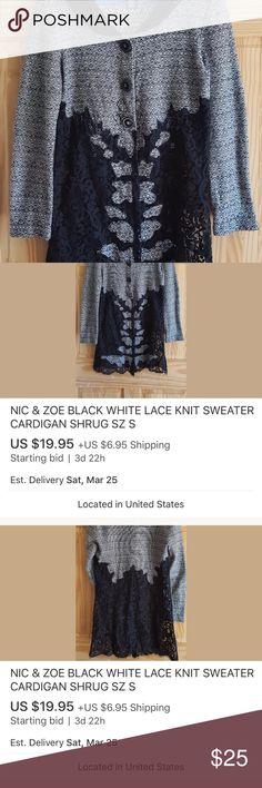 lace knight sweater long lace sweater NIC + ZOE Sweaters