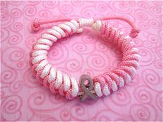 Breast Cancer Awareness Paracord Bracelet by ParacordBracelet4You.