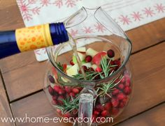 Easy Holiday Sangria with Ginger Ale (no simple syrup needed)  www.home-everyday.com