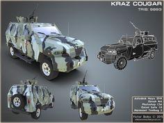 KRAZ Cougar, Viktor Boiko on ArtStation at https://www.artstation.com/artwork/D9Zxy