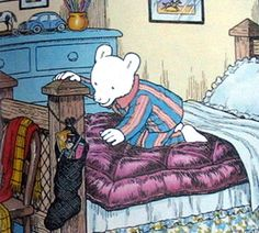 Rupert Bear on Christmas morning. Christmas Past, Retro Christmas, Christmas Morning, Xmas, 1970s Childhood, Childhood Memories, Book Illustrations, Children's Book Illustration, Happy December