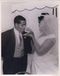 Vintage Black Bride and Groom