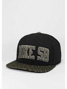 ed376a3e8f078 NIKE Snapback-Cap SB Leopard black m.olive für 29
