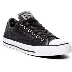 Converse Chuck Taylor Storm Window Sneaker (Women) ($45) ❤ liked on Polyvore featuring shoes, sneakers, black, black lace up sneakers, laced shoes, converse trainers, black rubber sole shoes and round cap