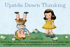 Upside Down Thinking Free Christian Message Card copy