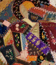 Detail of Victorian Crazy Quilt - www.rockymountainquilts.com