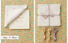 Antiquaria DIY Hand Stamped Handkerchief Save the Dates : Step 3