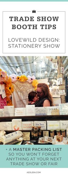 Trade show booth tips for the National Stationery Show / NSS, NY NOW, the Atlanta Gift Market. How to get started, and what you should know.